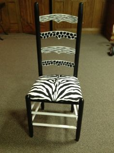 Hand Painted Chair With Upholstered Seat by ChristysArtDesigns, $250.00