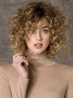 Natural Blonde Curly Hair