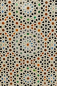 Shape over laying colors (Abstract Background: Colorful Inlaid Moroccan Tile)