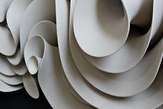Chrysanthemum Ceramicon wooden surface 158 diameter x 11 cm Path of Waves Ceramico...