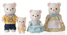Famille ours polaire sylvanian families