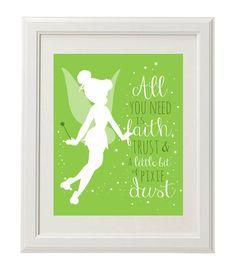 Tinkerbell Pixie Dust, Nursery Digital Printable $4.50