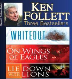 Ken Follett Three Bestsellers Ken Follett, White Out, Best Sellers, Thriller, Third, Literature, Reading, Penguin, Books