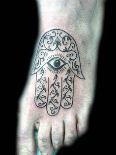 mano de fatima con ojo tatuaje - Buscar con Google