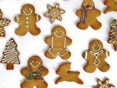Biscoitos de Natal com cobertura de glacê