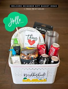 New neighbors no problem cute gift idea here happy things creative welcome neighbor gift ideas thatsgold coca cola giveaway negle Images