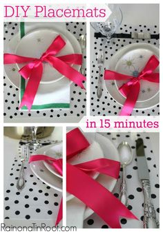 Placemats can be expensive - especially stylish ones. Why not make your own DIY placemats out of oilcloth in less than 15 minutes and for less than $15?