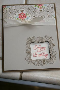 Stampin Up Happy Birthday Greeting Card by smilewhilestampin