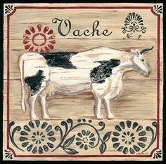Vintage French Farm Cow (Jennifer Brinley)