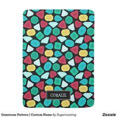 Gemstone Pattern | Custom Name Stroller Blankets