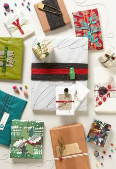 Anthropologie wrapping paper ideas