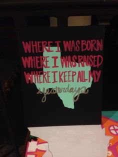 Where I was born, where I was raised, where I keep all my yesterday's.
