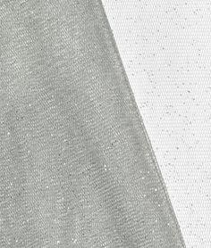 Silver Glitter Tulle Fabric - $3.7 | onlinefabricstore.net (6 yds)