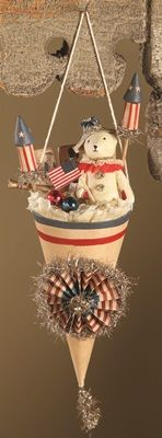 Americana Cone   Lose the filling shown here, add some poppers, streamers, and other kid-safe fun!