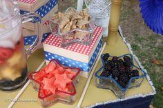 Food at a July 4th Picnic #july4th #picnicfood