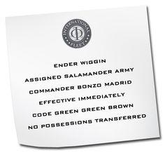 Ender's Game party invite idea