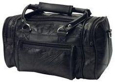 RoadPro Black Patchwork  Leather-Like  Shave Kit Bag   Genuine Leather  Patchwork Design   Nylon Fabric Lining   Carry Handles and Removable Shoul 688662f167250