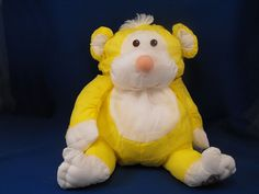 New product 'Fisher Price Puffalump Yellow Wild Things Monkey' added to Dirty Butter Plush Animal Shoppe! - $8.00 - 1987 Fisher Price Plush 15 inch Puffalump Yellow Wild Things Monkey - White Yarn Hair Tuft - White Ears, Face, Tummy, Ha…
