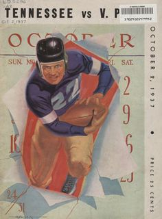 Wonder what the game program will look like when they play at Bristol Motor Speedway?!?! UT vs. Virginia Tech (October 2, 1937)