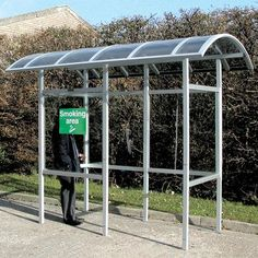 The Carleton 50™ smoking shelter is a low maintenance and cost–effective standing smokers shelter. Offering full compliance with UK smoke–free legislation.  #Shelter #SmokingShelter #GlasdonUK #EcigaretteShelter