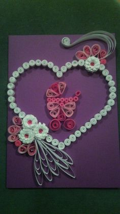 Quilling baby card
