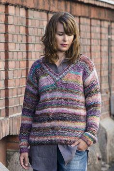 Stickad damtröja Novita Ruska | Novita knits