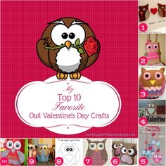 Top 10 Valentine's Day Owl Crafts Pinned by www.myowlbarn.com