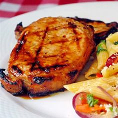 Honey and Orange Glazed Grilled Pork Chops