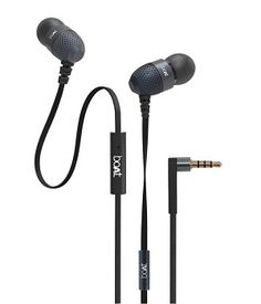 boAt BassHeads 200 In Ear Wired Earphones With Mic Black @ Rs.439 (63% OFF)