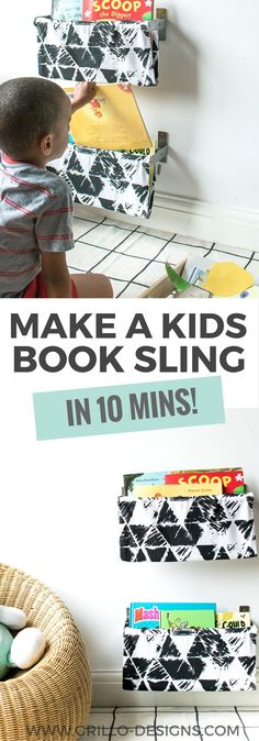 This might just be the easiest DIY book sling tutorial you'll ever read. Go grab an IKEA towel rail and an old pillow cover, and lets get creating!