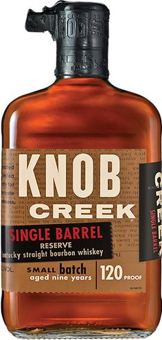 Check out KNOB CREEK SINGLE BARREL,  received the highest Double Gold honors at the San Francisco Spirits Competition.    Knob Creek® Single Barrel Small Batch Bourbon
