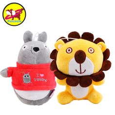 Petcircle 2017 New Arrival Pet Dog Cat Toys Lion Totoro style Plush Squeaky Dogs Toys, Pet play Toy Supplies