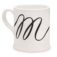 Cursive Monogram Mug - M