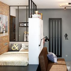 Aménagement d'une chambre ado garçon - style industriel - 13m2 Room, Room Design, Home, Moroccan Decor, Kids Room Design, Moroccan Lounge, New Homes, Room Inspiration, Big Boy Room