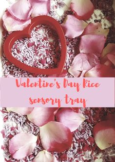 Valentine's Day sensory tub