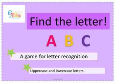 Help you kids to recognize the letters. They have to match the letters from the flash cards with the letters from the page. This is a game with uppercase and lowercase letters. Alphabet Games, Alphabet Print, Alphabet Worksheets, Preschool Worksheets, Uppercase And Lowercase Letters, Printable Letters, Letter Recognition, Elementary Education, Lower Case Letters