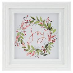 Get Joy Framed Wall Decor online or find other Christmas Decorations products from HobbyLobby.com