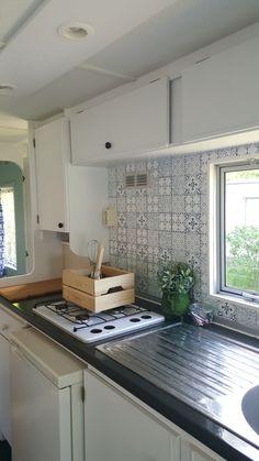 Keukentje stacaravan
