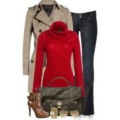 A fashion look from December 2013 featuring Lauren Ralph Lauren sweaters, Burberry coats and Hudson Jeans jeans. Browse and shop related looks.