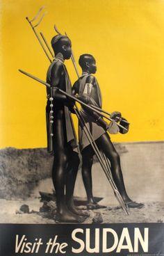 Visit the Sudan, 1930s - original vintage poster listed on AntikBar.co.uk