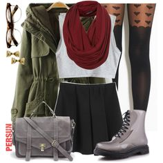 """""""Rainy Day Outfit"""" by annellie on Polyvore"""