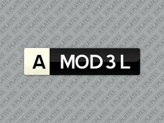 My A MOD3L number plates are for sale on MrPlates.