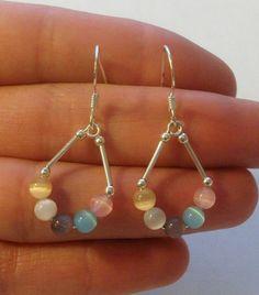 Sterling Silver Dangle Earrings by onetime on Etsy, $4.25: