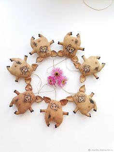 Игрушки животные, ручной работы. Кофейные свинки или хрюшки. Maniko (Игрушки и флористика). Ярмарка Мастеров. Улыбка, год свиньи, кофе