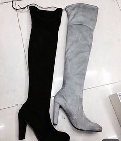 I'll take both in a size 8 please! #suede #boots