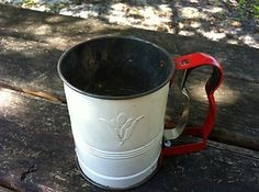 Vintage 1950's ANDROCK Hand-i-Sift Flour Sifter Made in USA Retro Metal Sifter $0.99