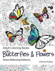 Adult Coloring Book: Butterflies and Flowers : Stress Relieving Patterns (Volume 7) __ bohemianizm Holiday Gift Guide 2015: 75 Awesome Art-Related Present Ideas | bohemianizm