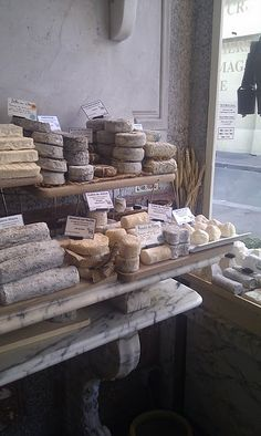 A cheese shop with no name! Gorgeous though. From Carte Blanche: Vicarious France 1 - Food Fruits Secs Bio, Fromage Cheese, French Cheese, Cheese Shop, In Vino Veritas, Wine Cheese, French Food, Food Photography, Bakery
