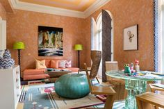 The Little Jewel Box Sitting Room, designed by Camille Saum for the DC Design House 2017, photographed by Angie Seckinger.