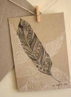 Paper Suites | Lace Feather Stationery